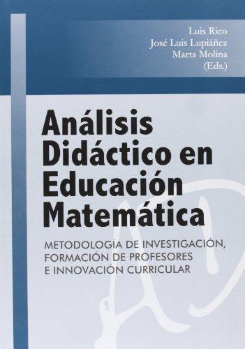 9788490450826: ANÁLISIS DIDÁCTICO EN EDUCACIÓN MATEMÁTICA.
