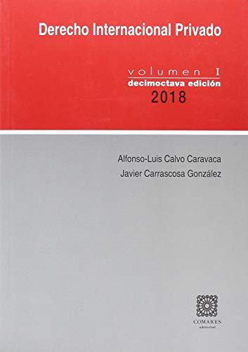 9788490456750: DERECHO INTERNACIONAL PRIVADO VOLUMEN I