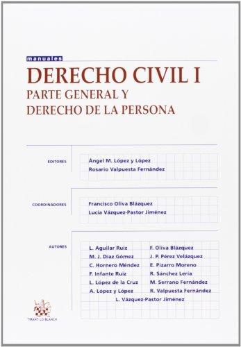 9788490534793: Derecho civil I Parte general y derecho de la persona