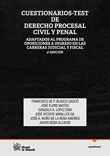9788490536971: Cuestionarios Test de Derecho Procesal Civil y Penal (Oposiciones)