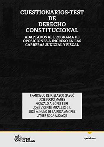 9788490537138: Cuestionarios-Test de Derecho Constitucional