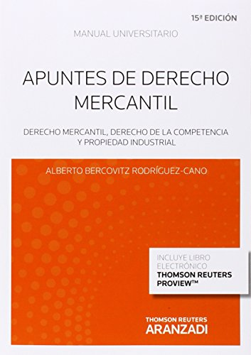 9788490595688: APUNTES DE DERECHO MERCANTIL (P+EB) 15'ED