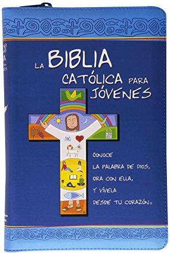 9788490731239: BIBLIA CATOLICA PARA JOVENES EDICION AZUL SIMIL PIEL CON CREMALLERA