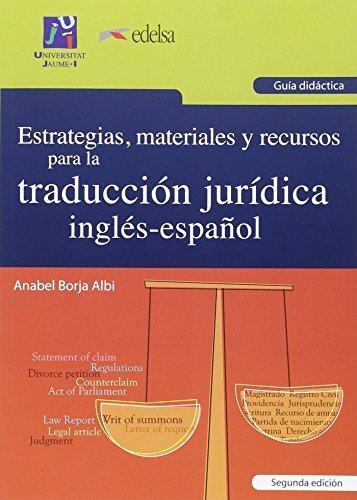 Estrategias, materiales y recursos para la traducción: Borja, Anabel