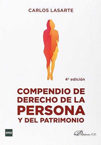 9788490850657: Compendio de derecho de la persona y del patrimonio (4ª ed.)