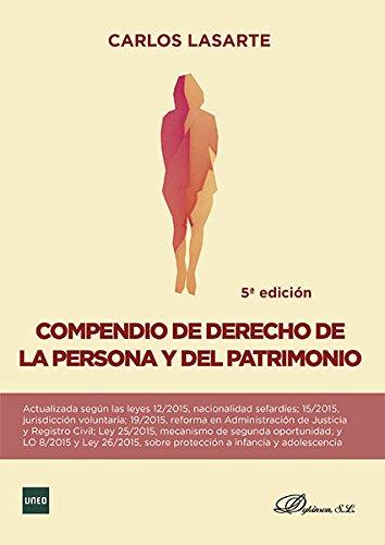 9788490853405: COMPENDIO DE DERECHO DE LA PERSONA Y DEL PATRIMONIO