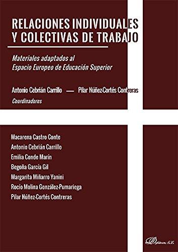 9788490855027: Relaciones individuales y colectivas de trabajo: Materiales adaptados al Espacio Europeo de Educación Superior