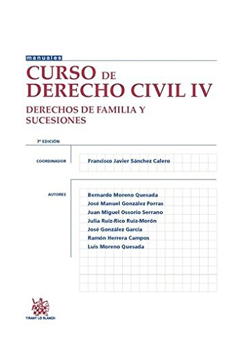 9788490869277: Curso de Derecho Civil IV Derechos de Familia y Sucesiones 7ª Edición 2015