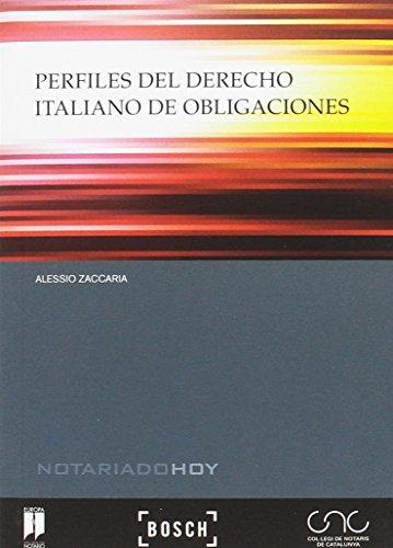 Perfiles del derecho italiano de obligaciones: Zaccaria, Alessio