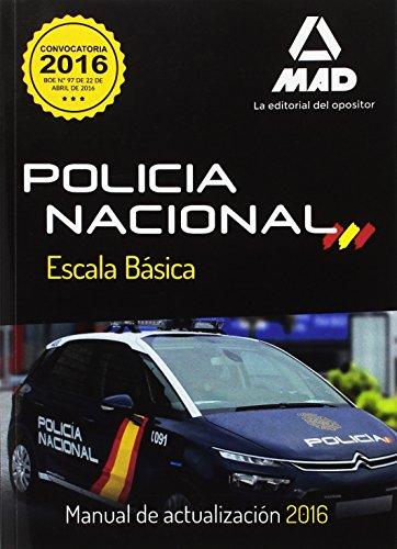 9788490933350: Policía Nacional. Escala Básica. Manual de Actualización 2016