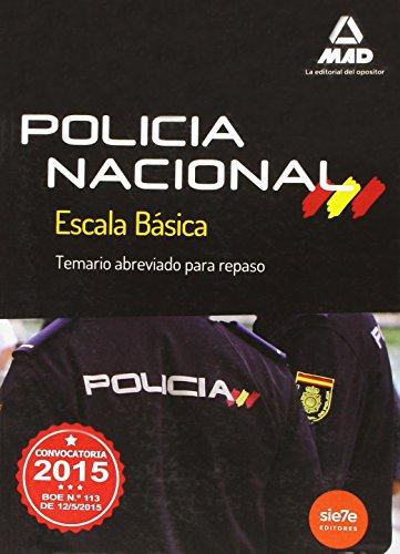 9788490933787: Escala Básica de Policía Nacional. Temario Abreviado para repaso