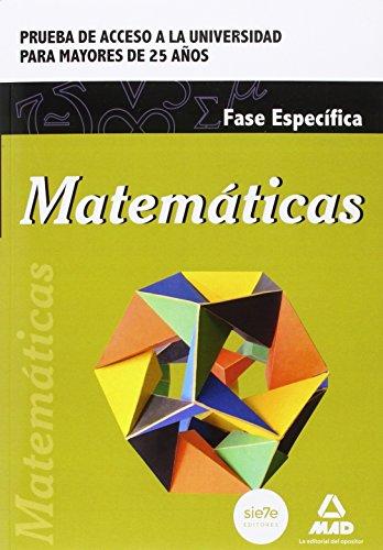 9788490934357: Matemáticas. Prueba de acceso a la Universidad para Mayores de 25 años