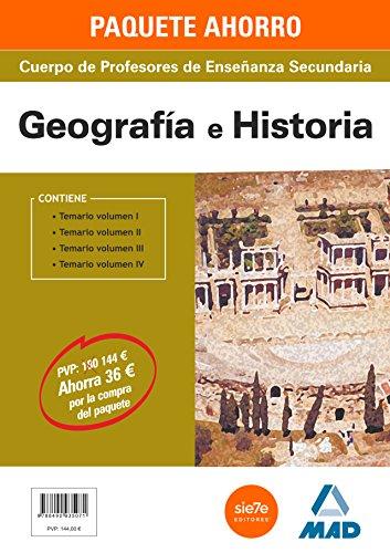 9788490935071: PAQUETE AHORRO GEOGRAFÍA E HISTORIA CUERPO DE PROFESORES DE ENSEÑANZA SECUNDARIA - 9788490935071