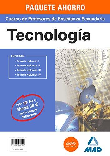9788490935101: Tecnología, Paquete Ahorro, Cuerpo de Profesores de Enseñanza Secundaria