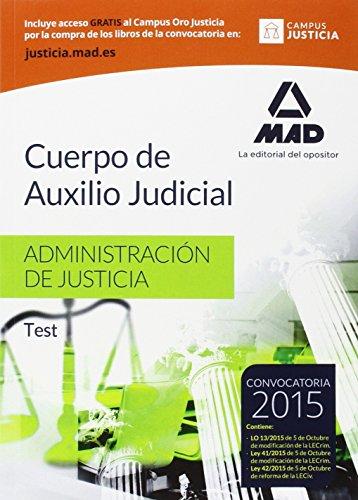 9788490935453: Cuerpo de Auxilio Judicial de la Administración de Justicia. Test