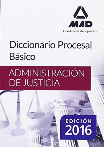 9788490937334: Diccionario Procesal Básico