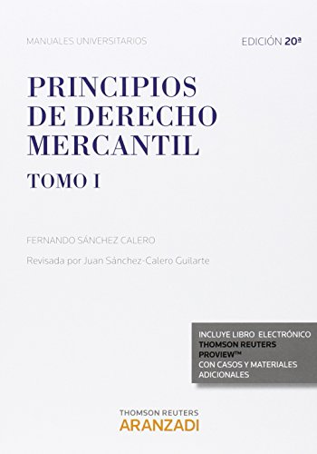 9788490982983: Principios De Derecho Mercantil (Tomo I) (Manuales)