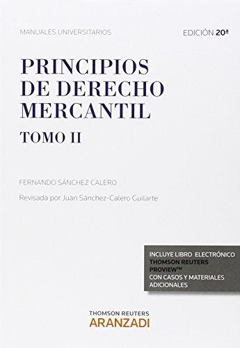 9788490983010: Principios de Derecho Mercantil (Tomo II) (Papel + e-book)