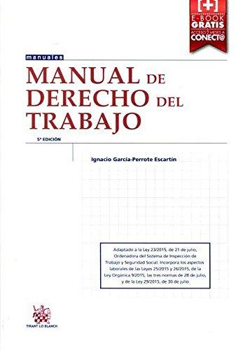 9788491190127: Manual de Derecho del Trabajo 5+ Edición 2015