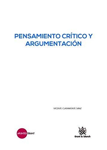 9788491197089: Pensamiento Crítico y Argumentación (Apuntes Tirant)