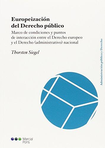 9788491230182: Europeización del Derecho público