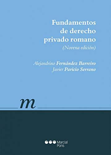 9788491230816: Fundamentos de Derecho privado romano (Manuales universitarios)