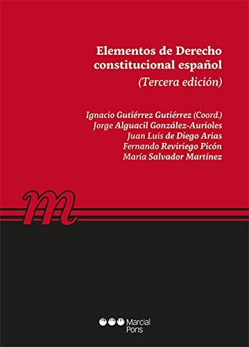 9788491236931: Elementos de Derecho constitucional español (Manuales universitarios)