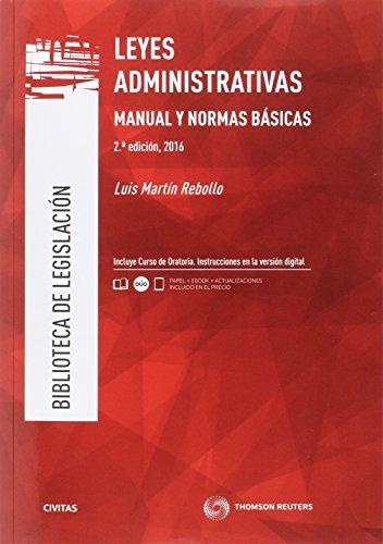 9788491358886: Leyes Administrativas.Manual y Normas básicas (2 ed. - 2016) (Biblioteca de Legislación)