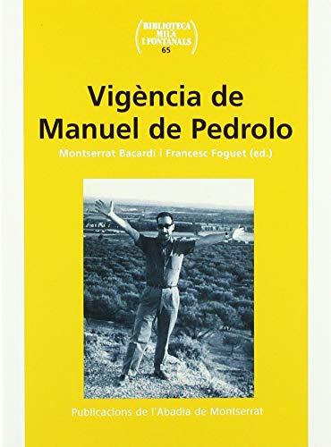 Vigència de Manuel de Pedrolo: A.A.V.V.
