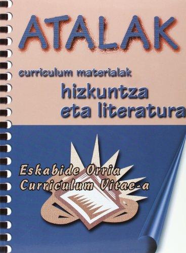 9788492374137: Atalak - eskabide orria, curriculum vitae-a