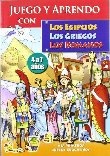 EGIPCIOS GRIEGOS ROMANOS -JUEGO Y APRENDO CON- 4 A 7 AÑOS: LISMA/PANINI