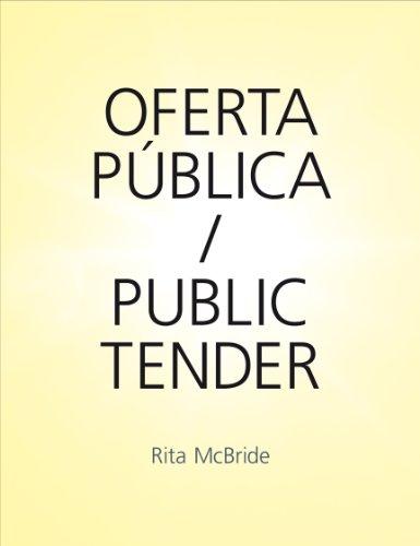 9788492505623: Rita McBride: Public Tender
