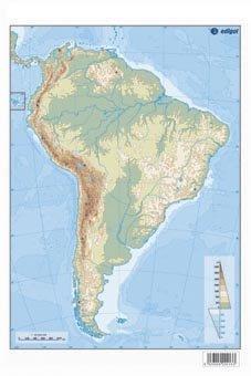 9788492525096: mapa américa del sur físico
