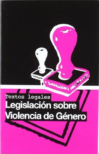 9788492575244: Legislacion sobre violencia de genero
