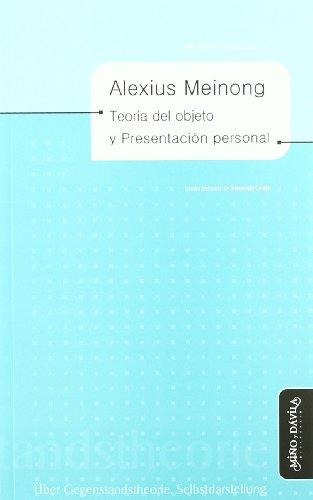 9788492613052: Teoría del objeto y presentación personal