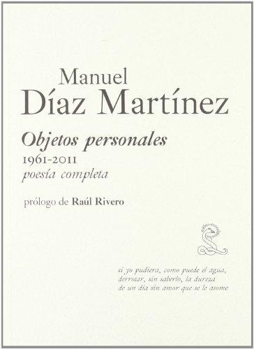 9788492705153: Objetos Personales (1961-2011) (Completas (sibila))