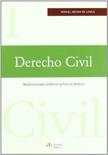 9788492754069: DERECHO CIVIL I