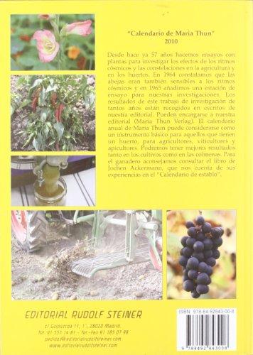 Thun Calendario.9788492843008 Agricultura Biodinamica A Partir De Ensayos