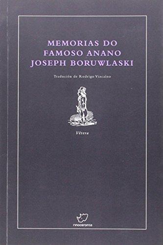 Memorias do famoso anano Joseph Boruwlaski: Boruwlaski, Joseph; Vizcaíno