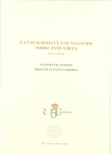 9788492884346: CAPACIDAD EN LOS NEGOCIOS SOBRE INMUEBLES (3ºED)
