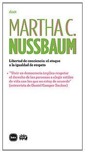 Libertad de conciencia: El ataque a la igualdad de respeto (8492946350) by NUSSBAUM,MARTHA C