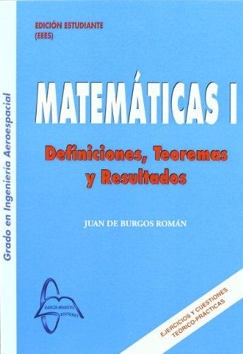 9788492976980: Matematicas I definiciones, teoremas y resultados