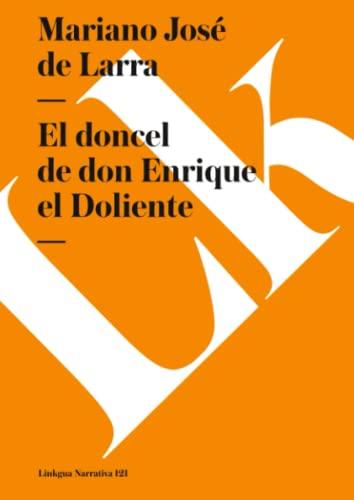 9788493343965: El doncel de don Enrique el Doliente (Narrativa) (Spanish Edition)