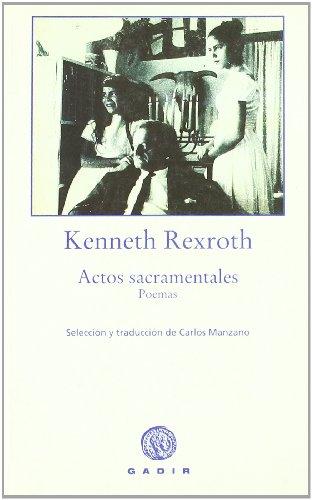 9788493404567: Actos Sacramentales (Colección La Voz de las Cosas)