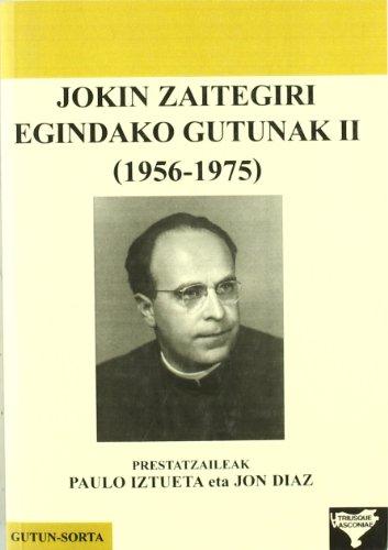 9788493501990: Jokin Zaitegiri egindako gutunak II