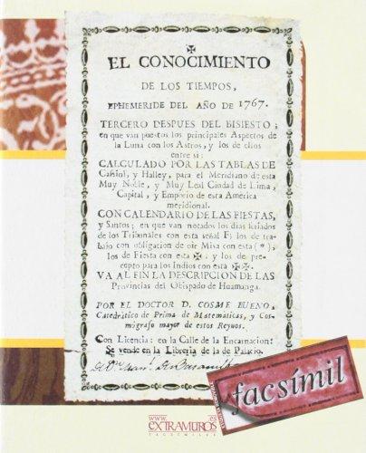 9788493540548: Facsímil: El conocimiento de los tiempos, ephemeride del año de 1767
