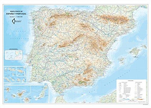 9788493560058: Mapa Mural Fisico España Y Portugal (tubo) (98x70)