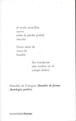 9788493635831: Hambre de forma: Antología poética bilingüe (Ajuar de frontera)
