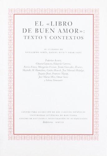 9788493666507: LIBRO DE BUEN AMOR: TEXTO Y CONTEXTOS, EL