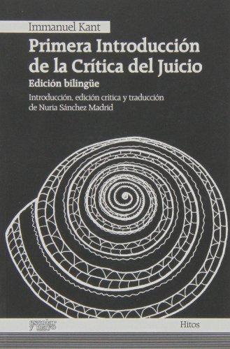 9788493790684: Primera introducción de la Crítica del Juicio (Hitos)